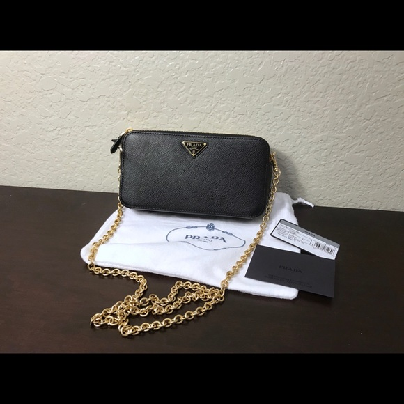 Prada Handbags - Sold. Prada Double Zip Mini Shoulder Bag / WOC
